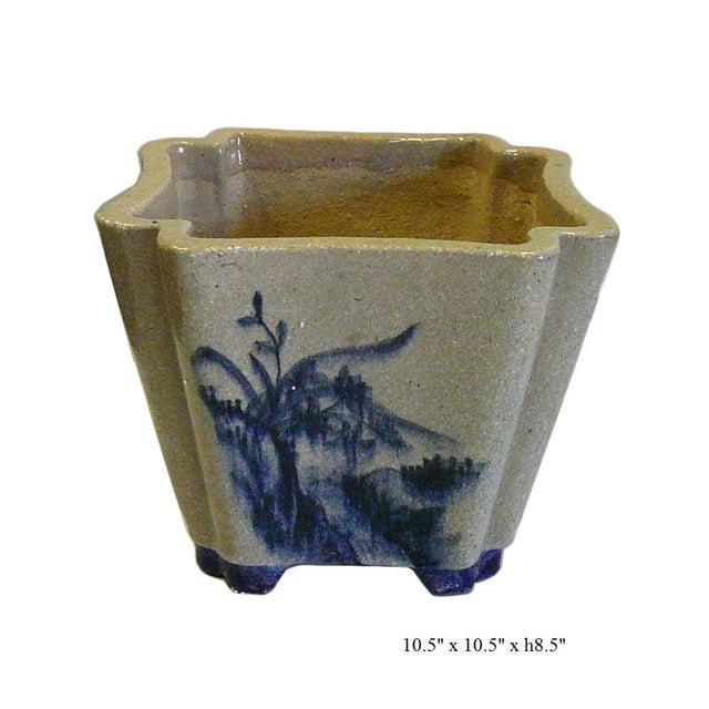 Oriental Scenery Ceramic Planter & Flower Pot - Image 5 of 5