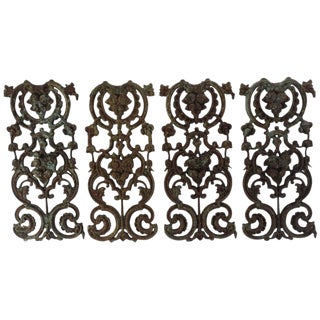 Early 19th Century French Wrought Iron Panels For Sale