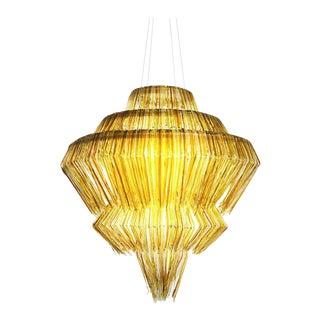 Brilli A Chandelier in Gold Resin by Jacopo Foggini For Sale