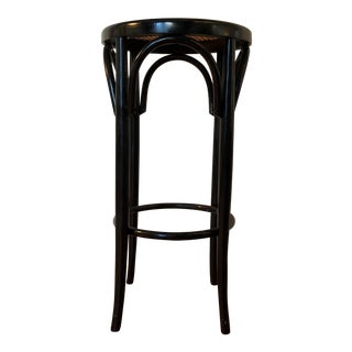 Italian Antique Bentwood and Cane Cafe Stool For Sale