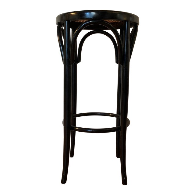 Talian Antique Bentwood and Cane Cafe Stool For Sale