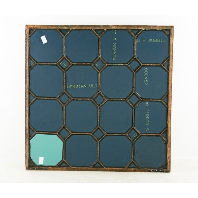 Mid 19th Century Antique Cast Iron Geometric Mirror For Sale - Image 4 of 7