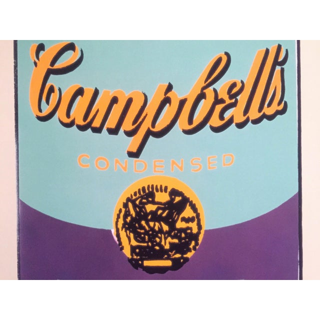 """Andy Warhol Foundation Lithograph Print Pop Art Poster """" Campbell's Soup Can """" 1965 For Sale In Kansas City - Image 6 of 11"""