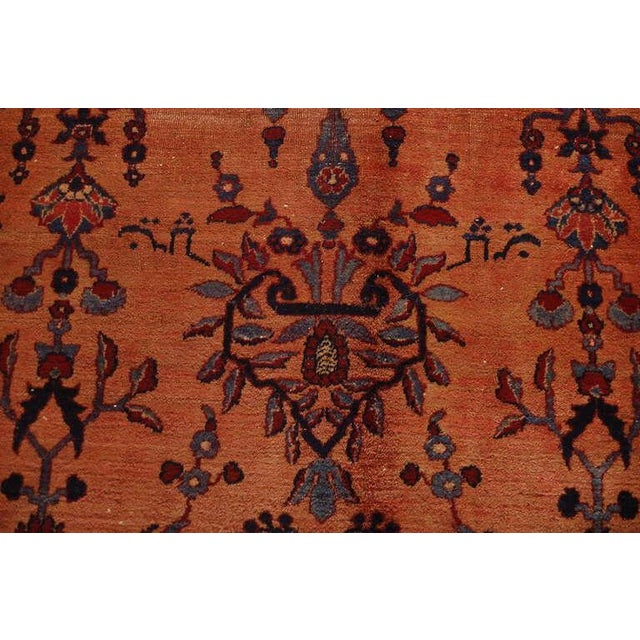 Mid 19th Century 19th C. Persian Lavar Kirman Rug - 8′5″ × 11′8″ For Sale - Image 5 of 5
