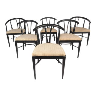 Mid-Century Modern Hans Wegner Style Dining Chairs - Set of 6