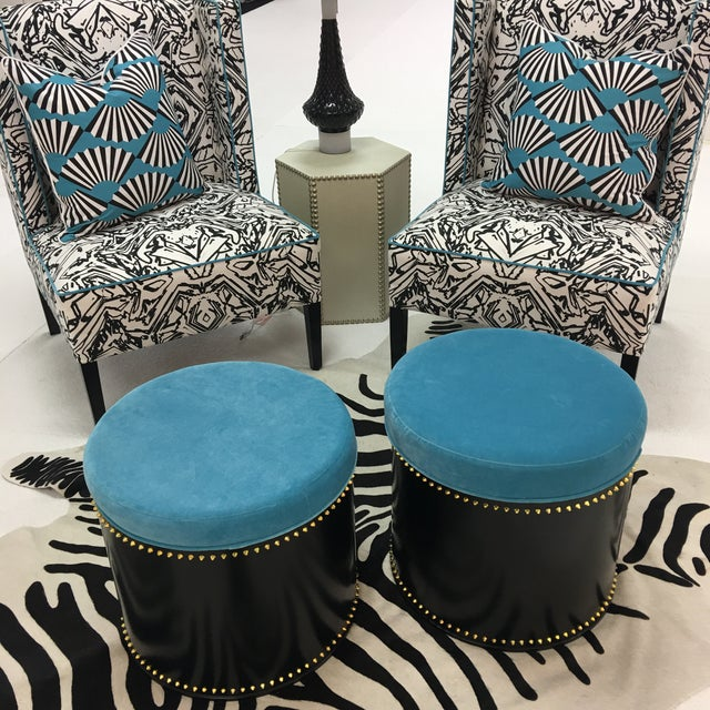 Taylor Burke Home Rivet Stools - A Pair - Image 3 of 3