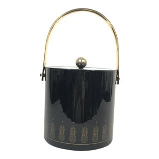 Black and Brass Pineapple Ice Bucket by Morgan and Company