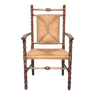 1900s Italian Aesthetic Decor Bobbin Armchair