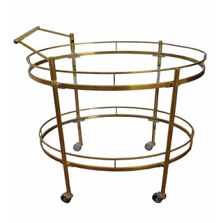 Vintage Brass 1950s Bar Cart