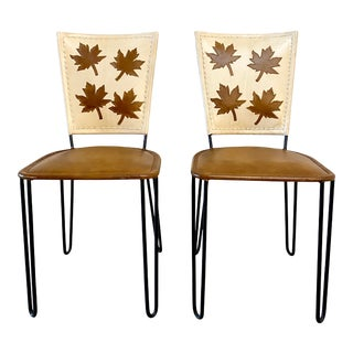 Pair of Willow Dining Chairs For Sale
