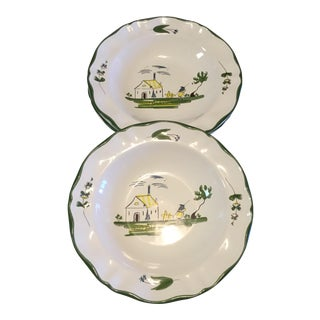 Varages Rim Soup Bowls - Set of 3 For Sale
