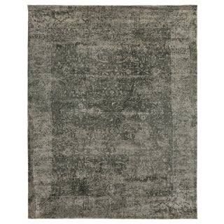 Newport Charcoal Hand loom Bamboo/Silk Area Rug - 9'x12' For Sale