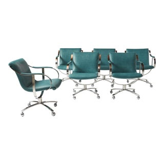 Swivel Chairs by Gardner Leaver for Steelcase - Set of 6 For Sale