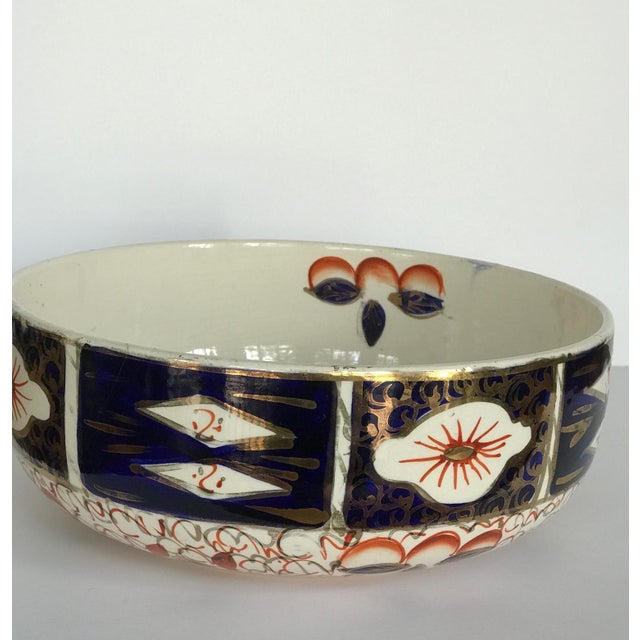 Antique Gaudy Welsh bowl by Arthur Wood (British Make) circa 1934+. Made in Staffordshire, England of pottery in a Gaudy...