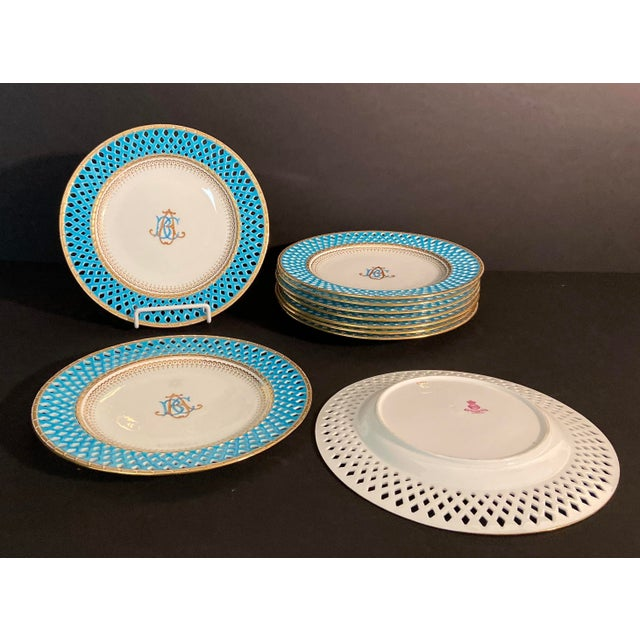 Beaux-Arts Late 19th Century Mintons Presentation Plates for Thomas Goode & Co. - Set of 10 For Sale - Image 3 of 13