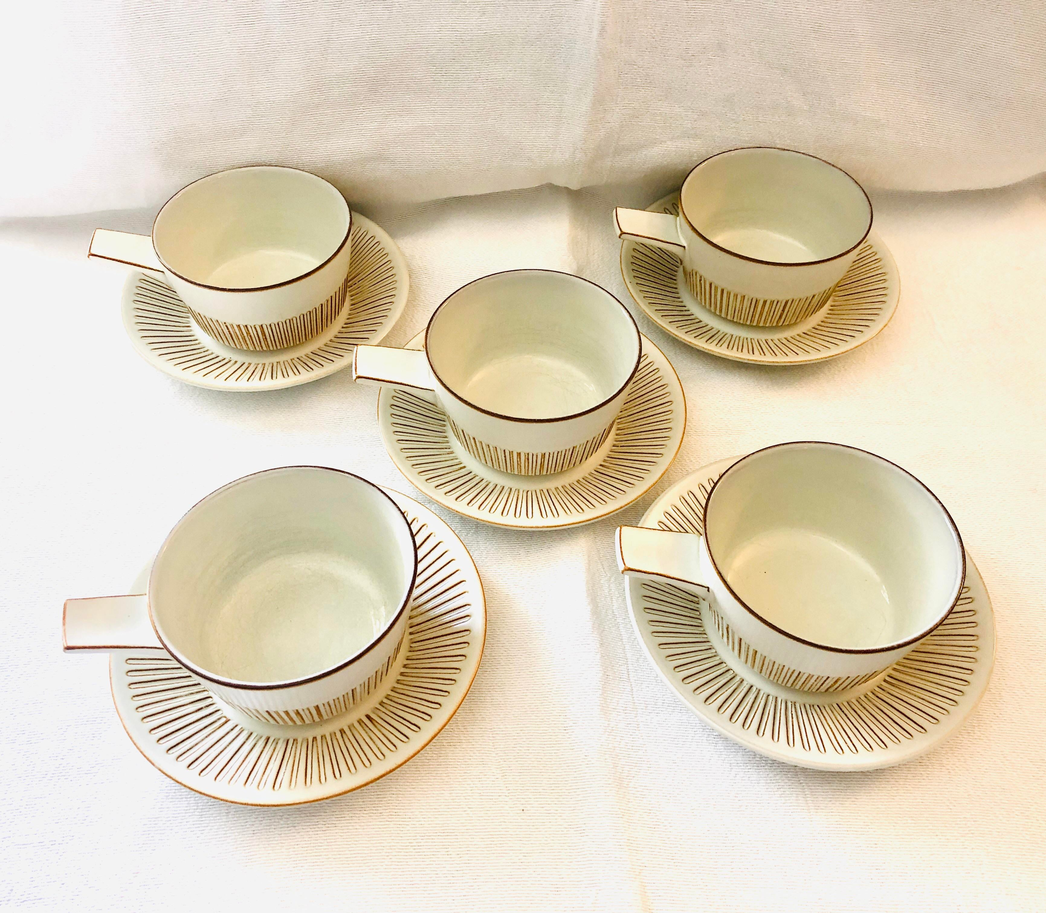 Mid-Century retro vintage 60/'s design presentation bowl set from Studio Fris Keramiek Edam pottery Made in Holland The Netherlands