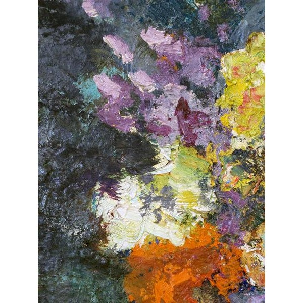 An Impressionist Still Life of Flowers w/ Fruit; Probably American - Image 3 of 5
