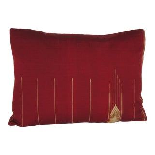 Persian Red & Gold Cotton Decorative Bolster Pillow For Sale