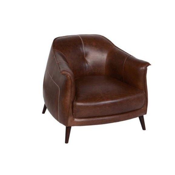Classic Brown Leather Club Chair from Kenneth Ludwig Home For Sale - Image 9 of 9
