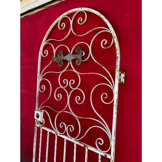 We love this dramatic, heavy, handwrought vintage shabby chic iron gate door with rare arch feature. Function, design, and...