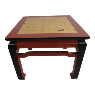 20th Century Ming-Style Painted Side Table For Sale