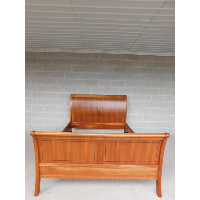 Stickley Cherry Queen Size Sleigh Bed For Sale - Image 12 of 12