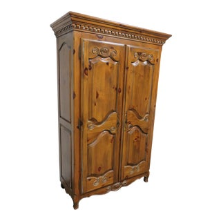 Ethan Allen Pine Country French Armoire For Sale