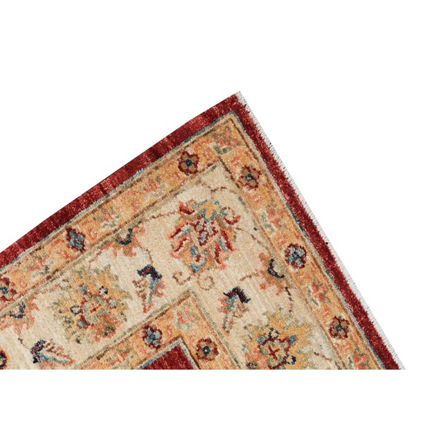 Wool Hand Knotted Pakistan Rug 4′4″x 6′4″ For Sale - Image 4 of 4