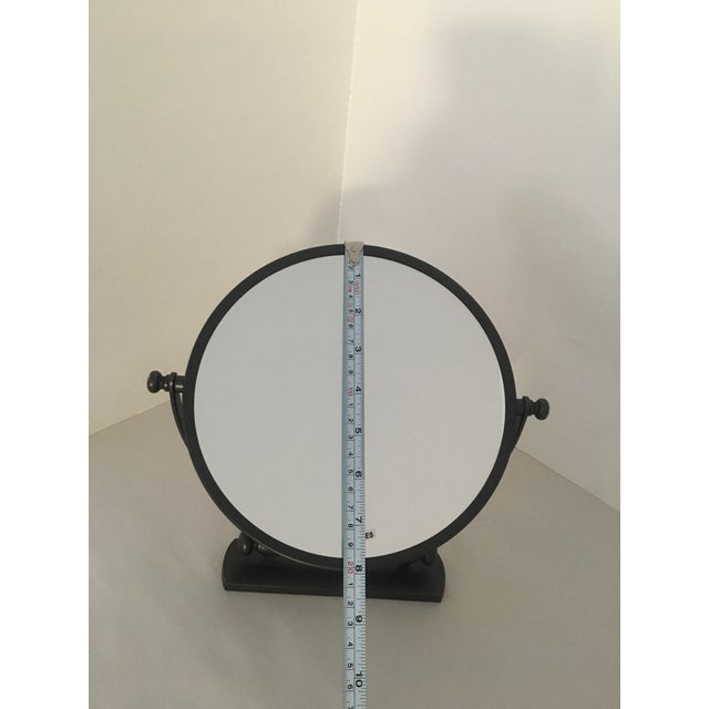 Contemporary Restoration Hardware Bistro Oil Rubbed Bronze Wall Mount Round Bathroom Mirror For Sale - Image 3 of 8