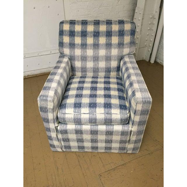 1980s Kravet Brunschwig & Fils Upholstered Down Filled Arm Chairs For Sale - Image 5 of 11