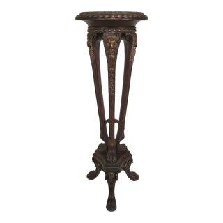 Maitland Smith Marble Top Regency Pedestal For Sale