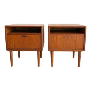 1960s Danish Modern Arne Vodder Teak Nighrstands - a Pair For Sale