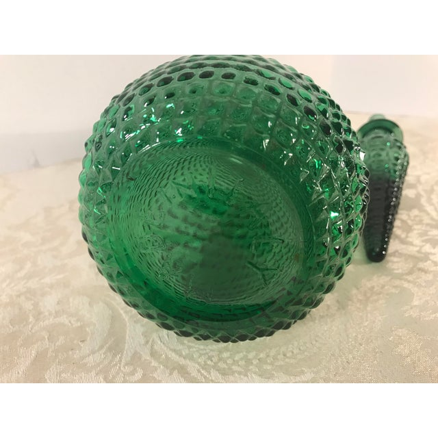 Mid Century Modern Italian Green Art Glass Decanter With Stopper For Sale In Dallas - Image 6 of 10