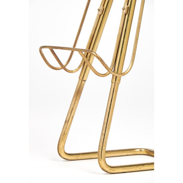 Brass French Mid-Century Brass Ashtray Magazine Stand For Sale - Image 7 of 9