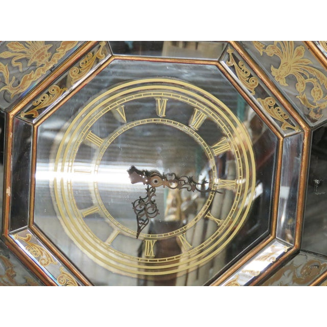 Eglomised Mirrored Hanging Clock - Image 2 of 9