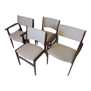 Danish Dining Chairs by Erik Buch - set of 4 For Sale