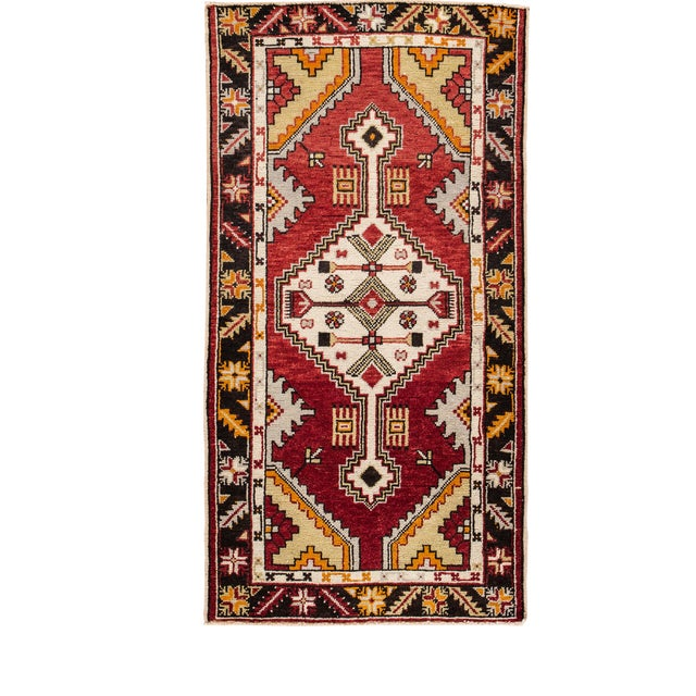 "Early 20th Century Vintage Anatolian Rug, 2'9"" X 5'4"" For Sale"