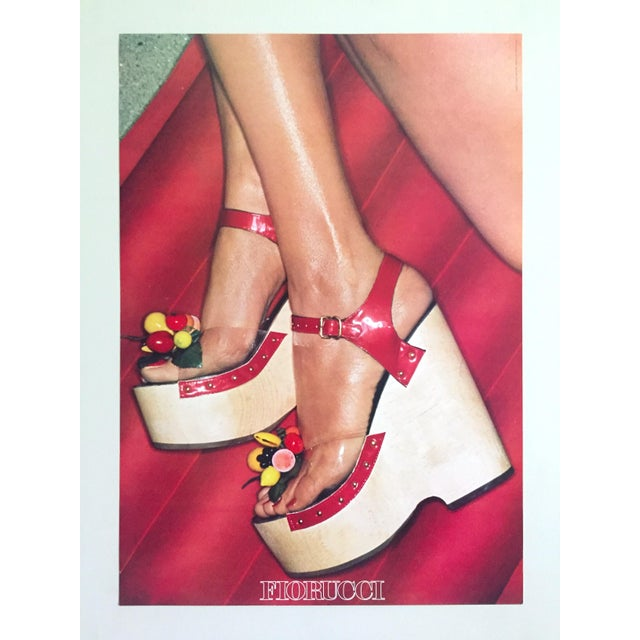 """Fiorucci Rare Original Vintage 1978 """" High Heels """" New Wave Italian Fashion Collector's Lithograph Print Pop Art Poster For Sale - Image 12 of 13"""
