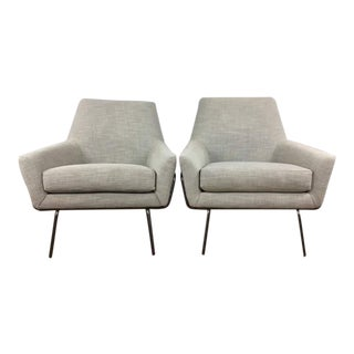 West Elm Mid-Century Modern Style Armchairs - A Pair