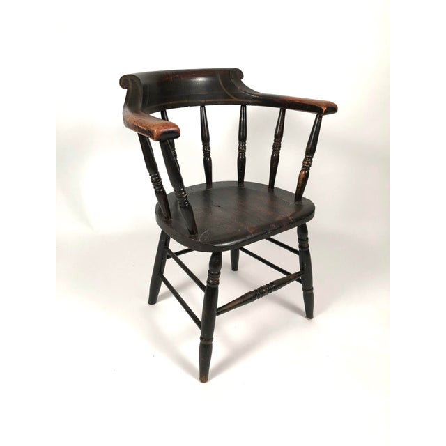 Country Set of 8 Matched Captain's Dining Chairs For Sale - Image 3 of 13