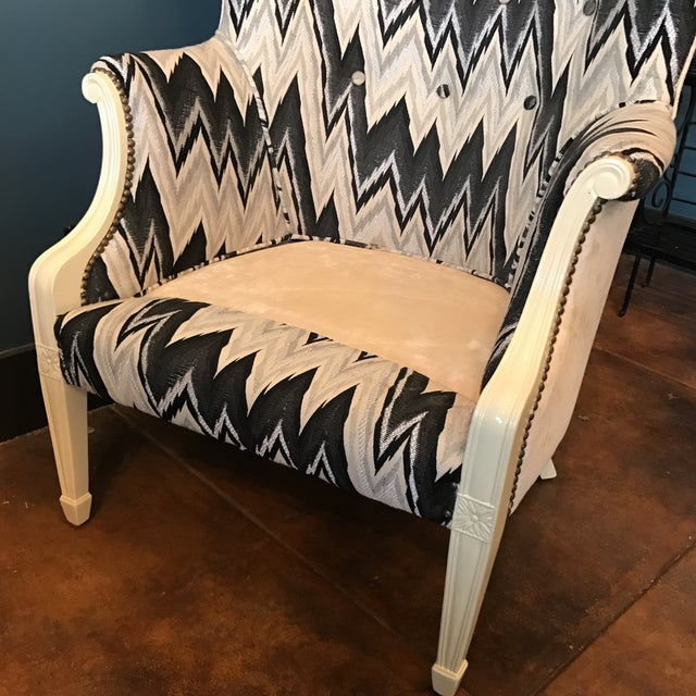 Custom Brass Tacked Wingback Chair - Image 9 of 9