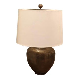 Arteriors Home Hammered Brass Lamp With Shade