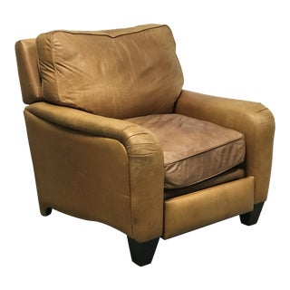 American Leather Studio Tan Leather Recliner For Sale