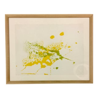 1980s Vintage Original Myra Kyle Abstract Psychedelic Watercolor Painting For Sale