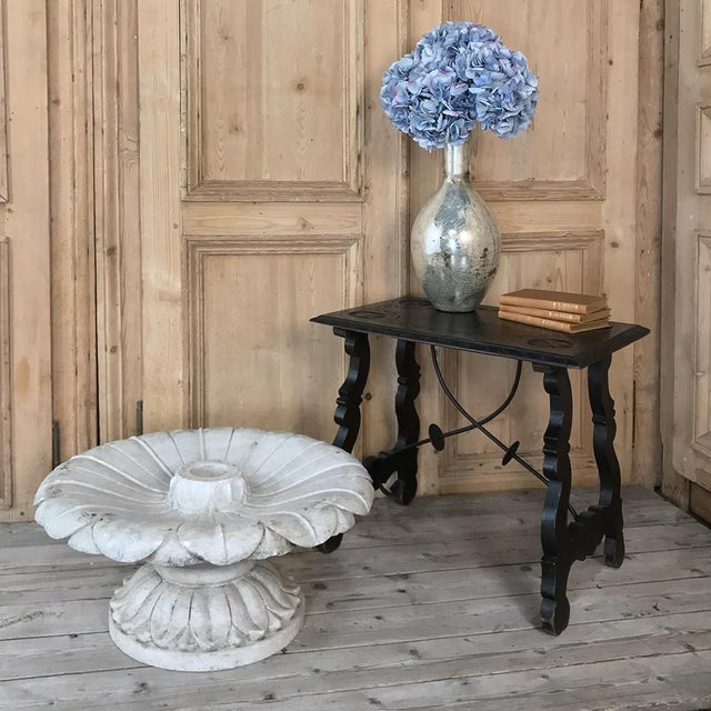 19th Century Carved Carrara Marble Garden Fountain features a two piece design which makes it easy to install, move, and...