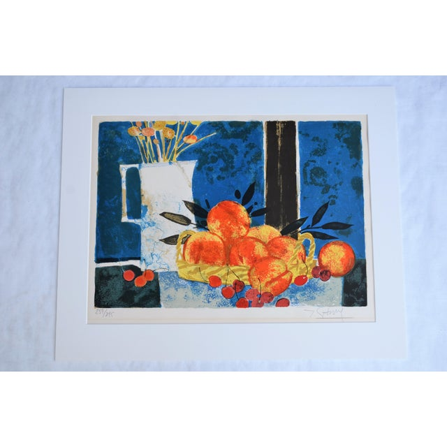 Hand Lithographed Still Life Print by French Artist Yves Ganne For Sale - Image 10 of 10