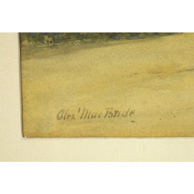 Paint Early 20th Century Antique Alexander MacBride British Village Watercolor Painting For Sale - Image 7 of 10