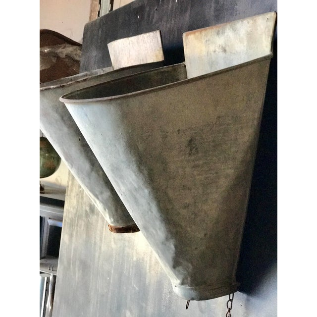 Vintage French Zinc Harvest Bins - A Pair - Image 8 of 8