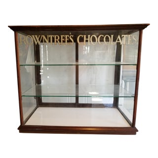 Antique Rowntrees Chocolate Large Display Case