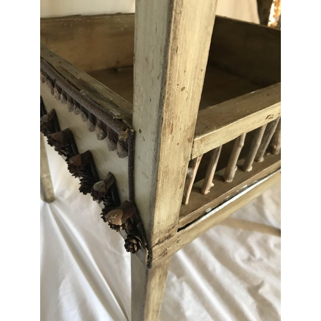 Birch Adirondack Plant Stand or Side Table For Sale - Image 7 of 13